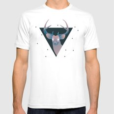 Deer Hipster Mens Fitted Tee SMALL White