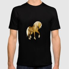HORSE - Palomino Mens Fitted Tee Black SMALL