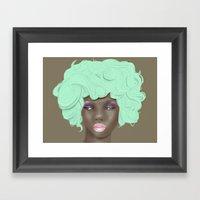 emogirl earth Framed Art Print