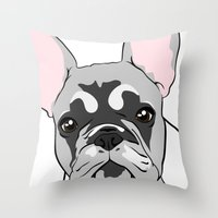 Jersey The French Bulldo… Throw Pillow