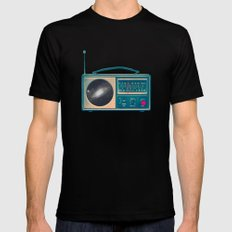 Space Radio Mens Fitted Tee Black SMALL