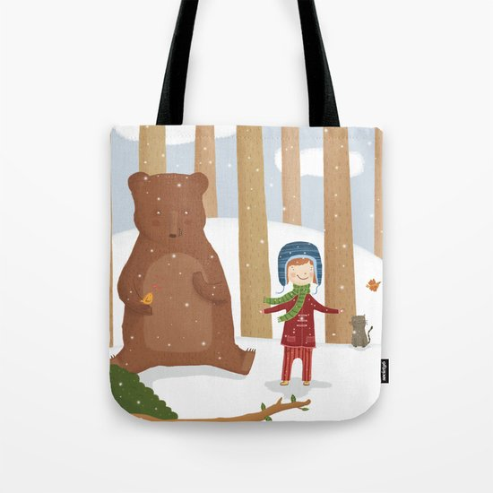 A  BIRD  IN LOVE  Tote Bag