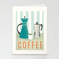 coffee Stationery Cards featuring Coffee by Jenny Tiffany