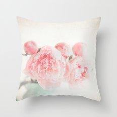 Spring Peony Throw Pillow