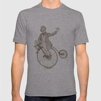 Flatland Penny Farthing Mens Fitted Tee Athletic Grey SMALL