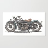 1929 Indian Motorcycle Canvas Print