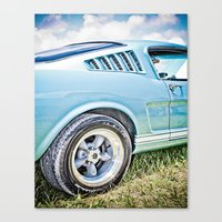 1966 Ford Mustang Fastba… Canvas Print