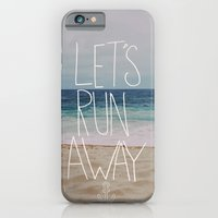 iPhone Cases featuring Let's Run Away: Sandy Beach, Hawaii by Leah Flores
