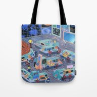 Tote Bag featuring Command Center by Valeriya Volkova