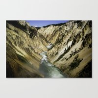 Grand Canyon of the Yellowstone Canvas Print