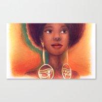 Ra Eyes - Queen Canvas Print