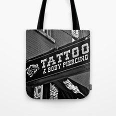 Tattoos Here Tote Bag