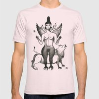 Ishtar, Queen of the Night Mens Fitted Tee Light Pink SMALL