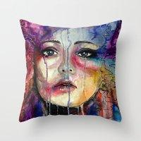 Colourful Tears Throw Pillow