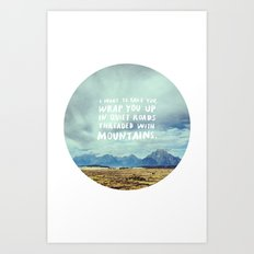 Mountains for Andrew Art Print