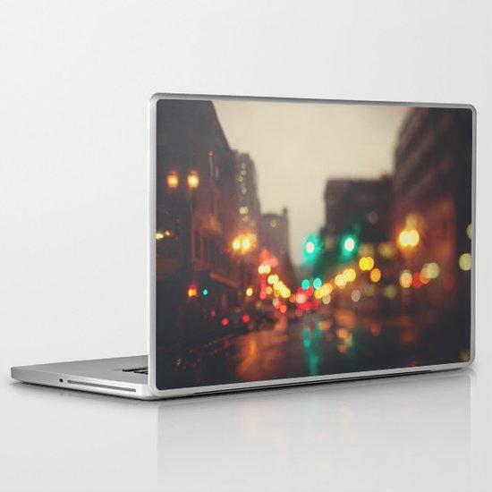 Portland In The Rain Laptop & iPad Skin