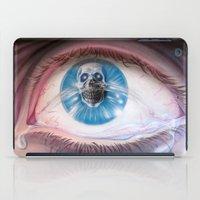 Death in the eyes iPad Case