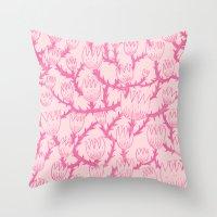 Pink Thorn Throw Pillow
