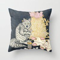 Big Bad Wolf Only Needed a Needle Throw Pillow