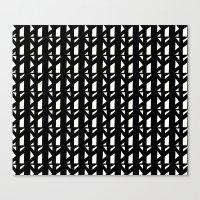 Marsman Black & White Pattern Canvas Print