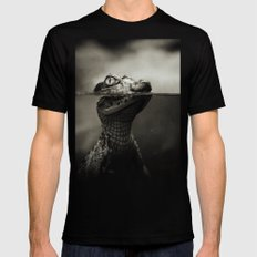 Baby crocodile SMALL Mens Fitted Tee Black