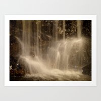 Underground Waterfall Art Print