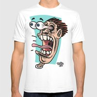 Double Take Right Mens Fitted Tee White SMALL