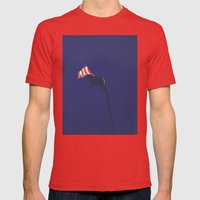 Fading Freedom Mens Fitted Tee Red SMALL