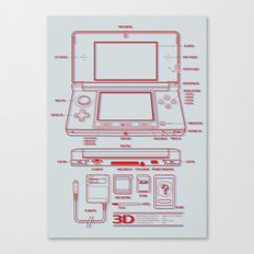 3DS Canvas Print