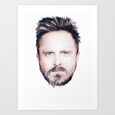 Aaron Paul Digital Portrait Art Print
