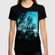 T-shirt featuring Black Trees Teal Space by 2sweet4words Designs