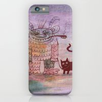 iPhone & iPod Case featuring evil sorcerer with his cat by Marianna Tankelevich