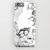 Bubbles Black and White iPhone 6 Slim Case