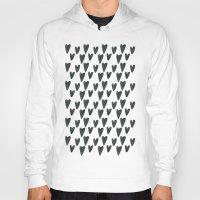 Watercolour Hearts Pattern Hoody