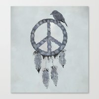 A dreamcatcher for peace Canvas Print