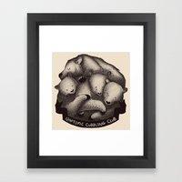 Naptime Cuddle Club Framed Art Print