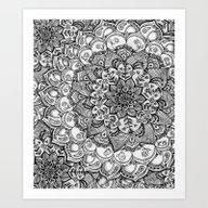 Art Print featuring Shades Of Grey - Mono Fl… by Micklyn