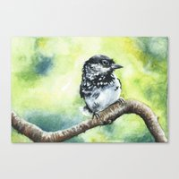 Green Bird Canvas Print
