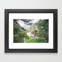 Restored Train Depot Framed Art Print