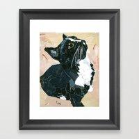 Lady Speedstick Kitty Framed Art Print