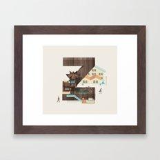 Resort type - Letter Z Framed Art Print
