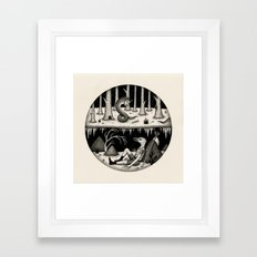 Hide Away Framed Art Print