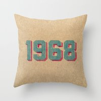Vintage 1968 Throw Pillow