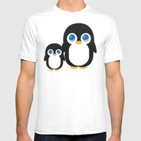 Adorable Penguins Mens Fitted Tee White SMALL