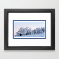 A Cold Day In Paradise Framed Art Print