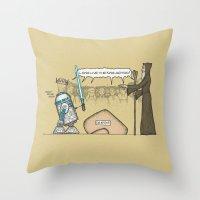 King Artoo Throw Pillow