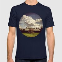 Telescope 2 glasshouse at kew Mens Fitted Tee Navy SMALL