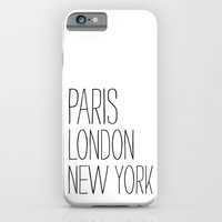 Paris, London, New York iPhone 6 Slim Case