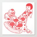 P is for Pizza 1 Canvas Print