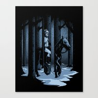 The Walker in the Woods Canvas Print
